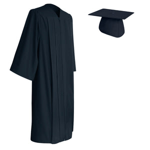 Navy Blue Cap and Gown