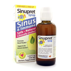 Sinupret Syrup For Kids 3.38oz/100ml (BioNorica)