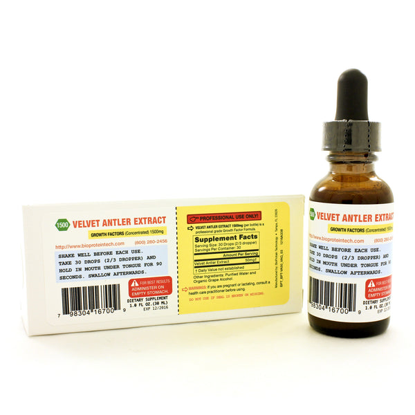 Velvet Antler Extract (VAE) 1500 Liquid 1oz