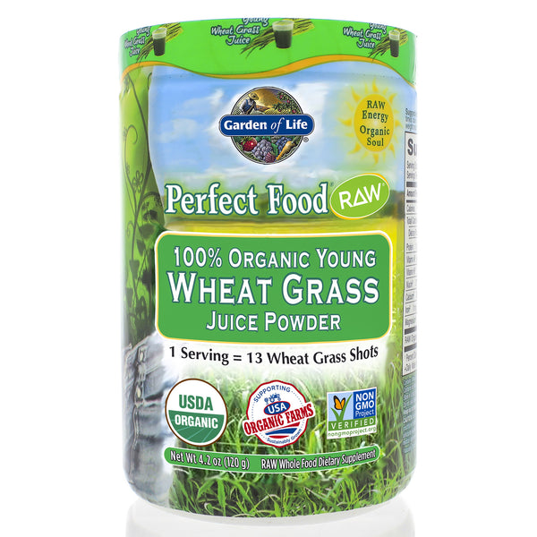 Perfect Food Raw 100% Organic Young Wheat Grass Juice 120g