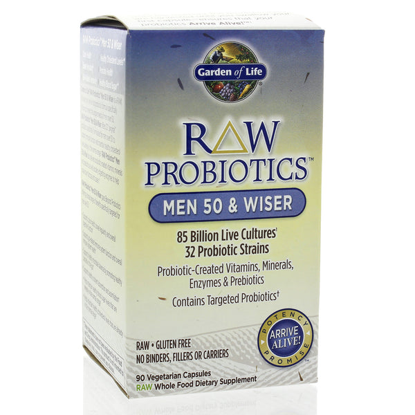 RAW Probiotics Men 50 and Wiser 90c (F)