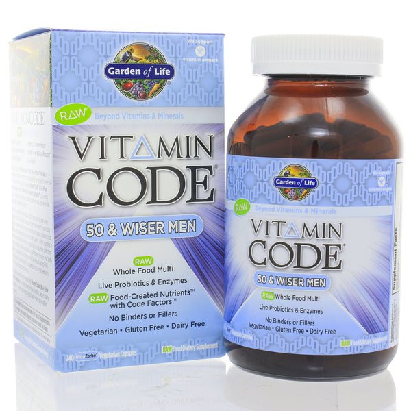 Vitamin Code 50 and Wiser Mens Multi 240c
