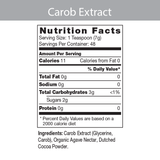 Carob Extract 8 oz  liquid