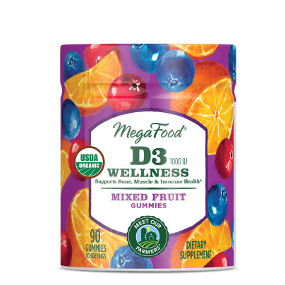 D3 1000IU Wellness - Mixed Fruit Gummies 90gm