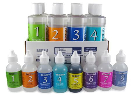 MTK plus - Liquid Minerals Test Kit set of 1-8  4oz  minerals plus taste test kit