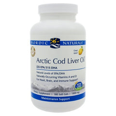 Arctic Cod Liver Oil Lemon 180sg