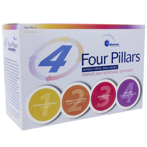 Four Pillars Daily Supplement w/o Cu,Fe,Ni 30 pck