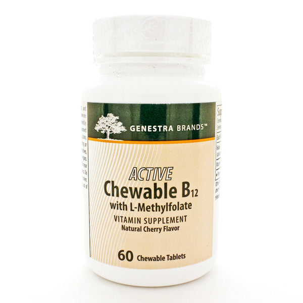 Active Chewable B12 w/L-Methylfolate 60t