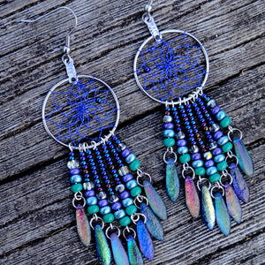 Dream Catcher Jewellery with Glass and Dagger Beads