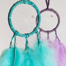 "Load image into Gallery viewer, 2"" Coloured Feather Dream Catchers"