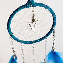 "Load image into Gallery viewer, 3"" Dream Catchers with Chain and Metal Arrowhead"