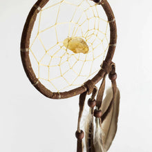 "Load image into Gallery viewer, 2.5"" Natural Twig Dream Catchers with Raw Semi-precious Stones"