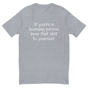 If you're a morning person