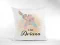Personalised floral alphabet cushion-Girls