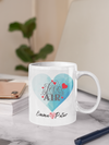 Personalised heart design Mug|Valentines gift|Valentines Mug|Couple gifts