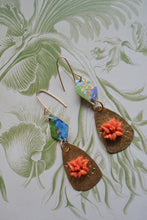 Load image into Gallery viewer, Hibiscus Watercolor Drops Earrings
