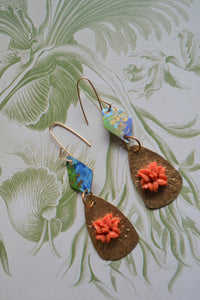 Hibiscus Watercolor Drops Earrings