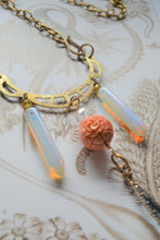 Load image into Gallery viewer, Rose & Crystal Necklace