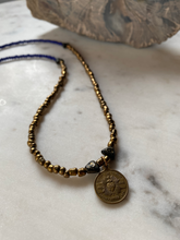 Load image into Gallery viewer, Vintage Sacred Heart Bead Necklace