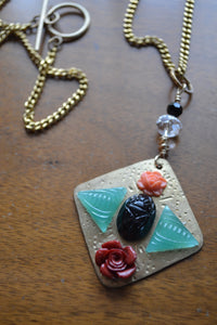 Scarab & Roses Necklace