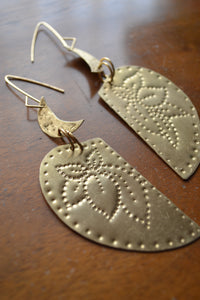 Heart & Crescent Earrings