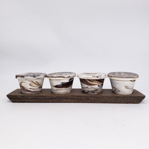 Cappuccino Cups on Tray in Mocha