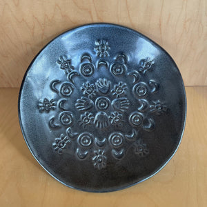 Black Patterned Dish