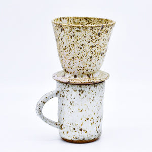 Speckled Coffee Pourover Set