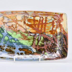 Rectangular Plate with Abstract Glaze Layers