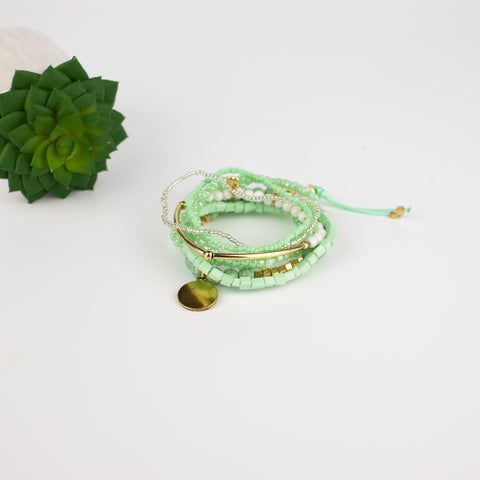 Mint Layered Pixie Bracelet