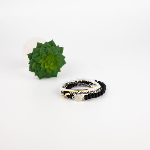 Black, White & Grays Bella Bracelet