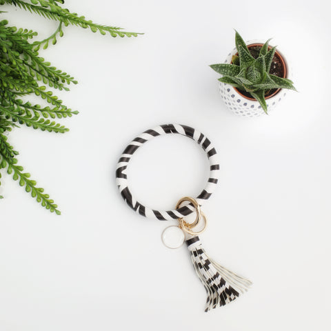 Key Ring Bracelet Collection - Zebra