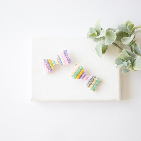 Rainbow Hair Collection - Pastel Bow