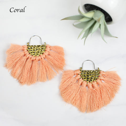 Fan Fringe Drop Earrings