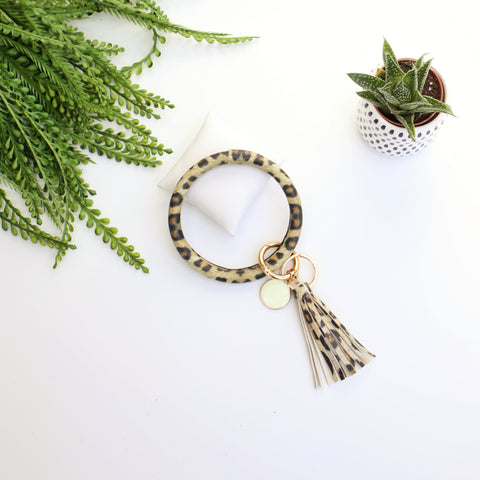 Key Ring Bracelet Collection - Leopard
