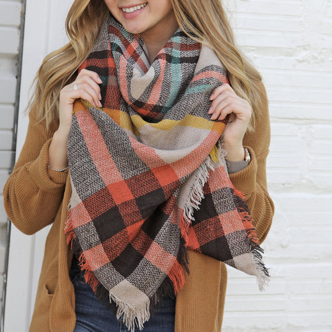 Fall Harvest Blanket Scarf