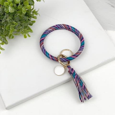Key Ring Bracelet Collection - Galaxy Stripe