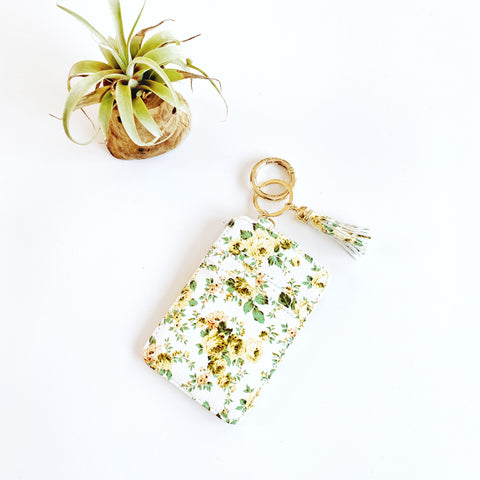Key Ring Wallet - Daisies