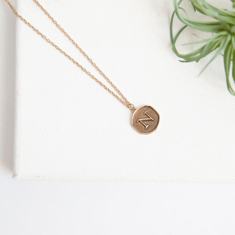 Initial Collection Necklace - Letter N