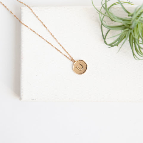 Initial Collection Necklace - Letter U