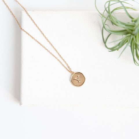Initial Collection Necklace - Letter Y