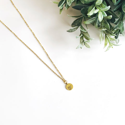 Delicate Flower Cutout Necklace