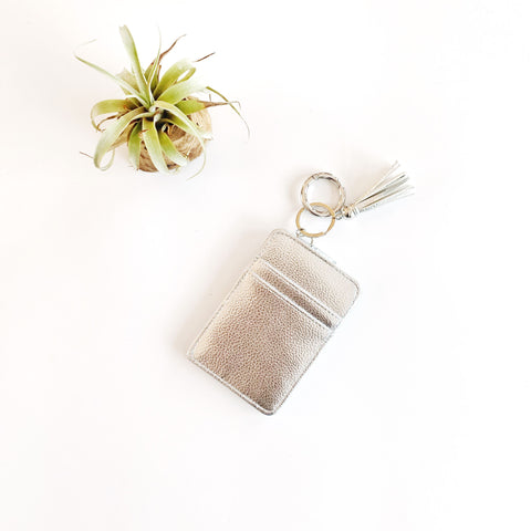 Key Ring Wallet - Silver