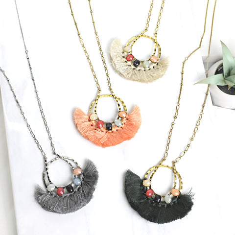 Fan Fringe Tassel Necklace
