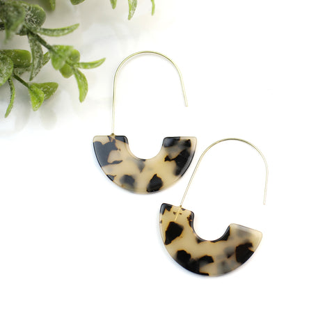 {Luna} Tortoise Acrylic Earrings