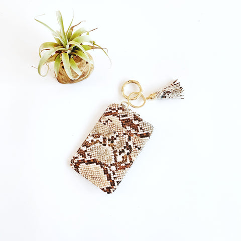Key Ring Wallet - Browns Snakeskin