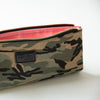 Foldover Muted Camouflage Clutch with Pink Lining Inside