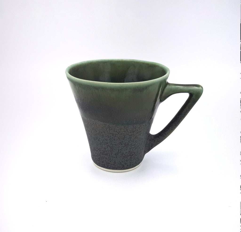 "Kaolin - Iceramic. Cone cup with ""Moss"" glaze."