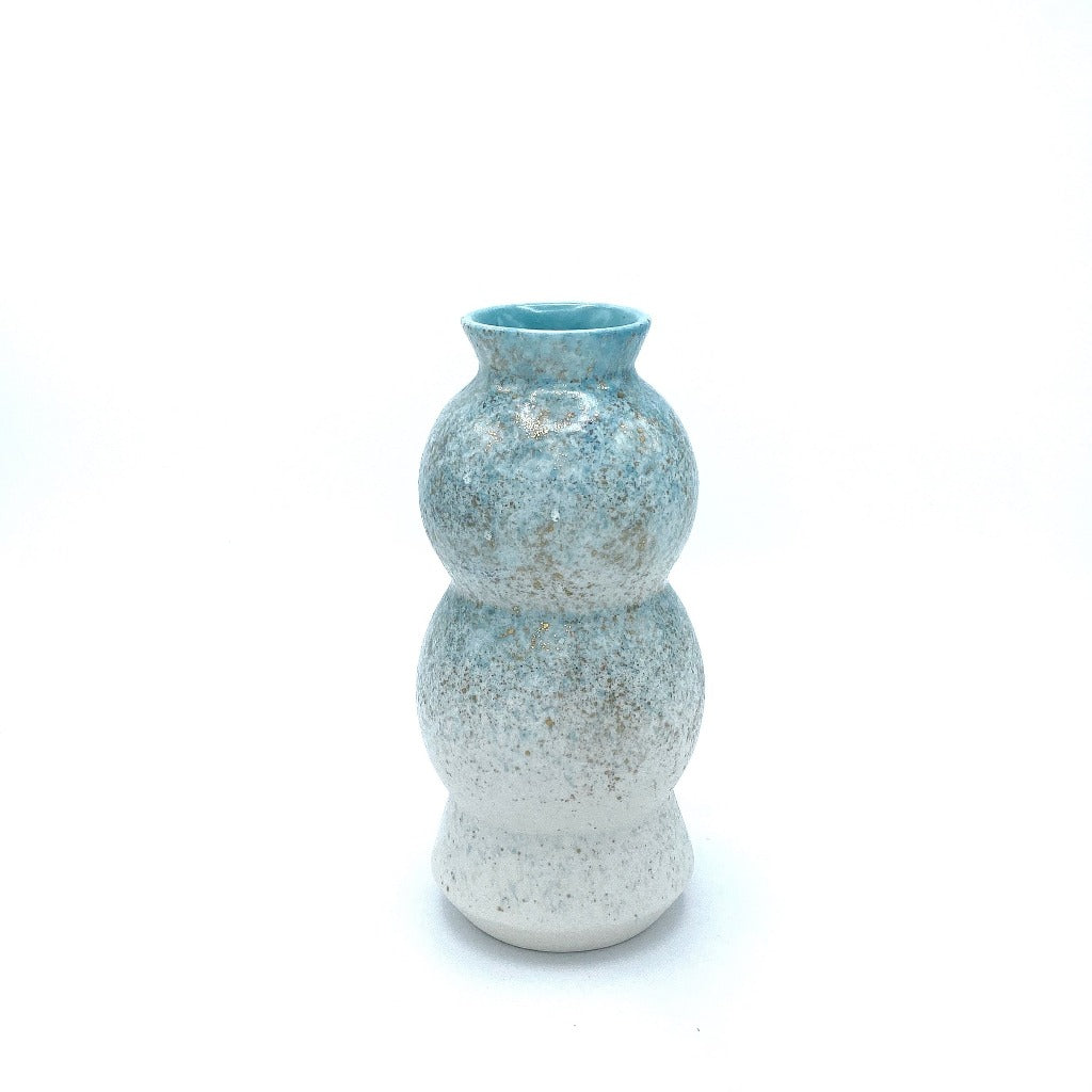 DAYNEW - Kaolin - Blue and Gold Circus Vase