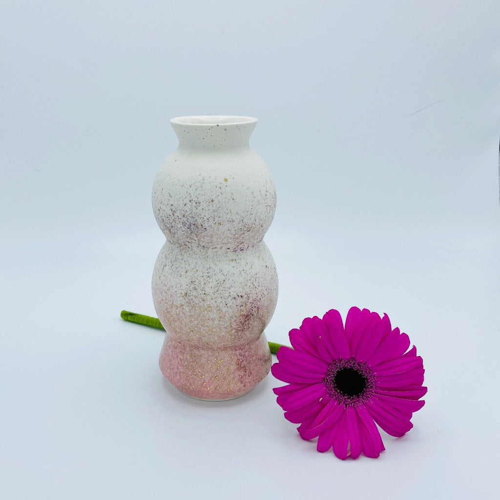 Kaolin - Circus vase - Pink and white - DAYNEW